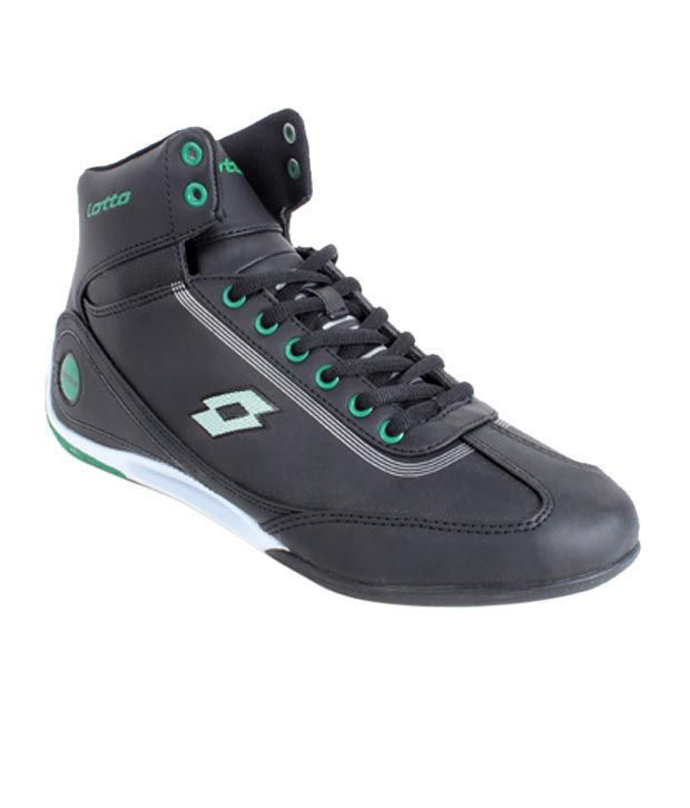 Lotto Victory Black & Green Sport Shoes