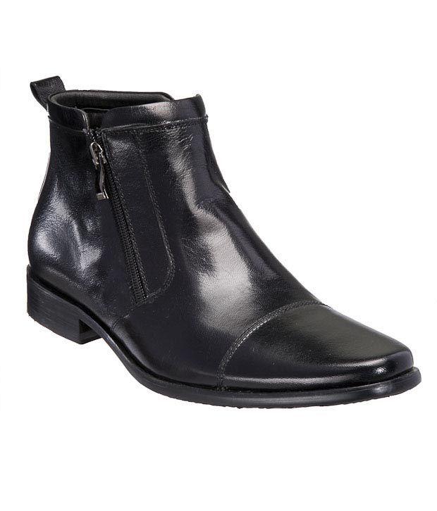 Numero Uno Classy Black High Ankle Boots