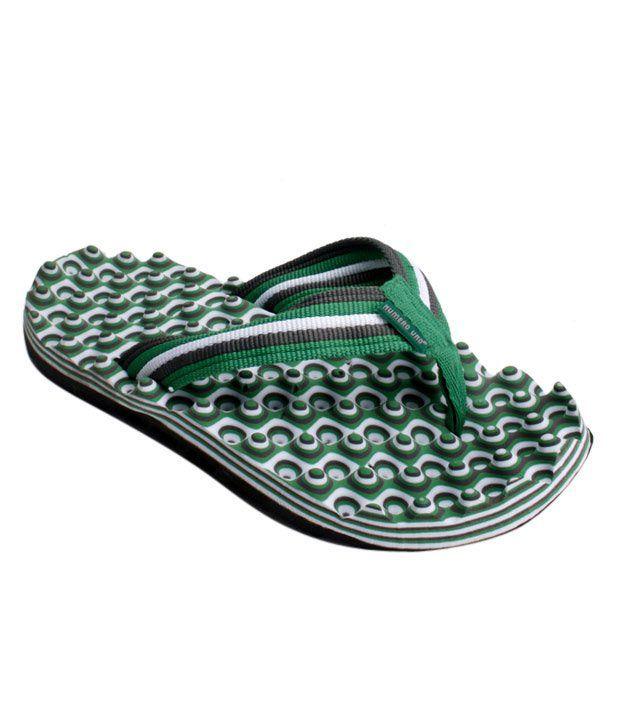 Numero Uno Green & White Flip Flops
