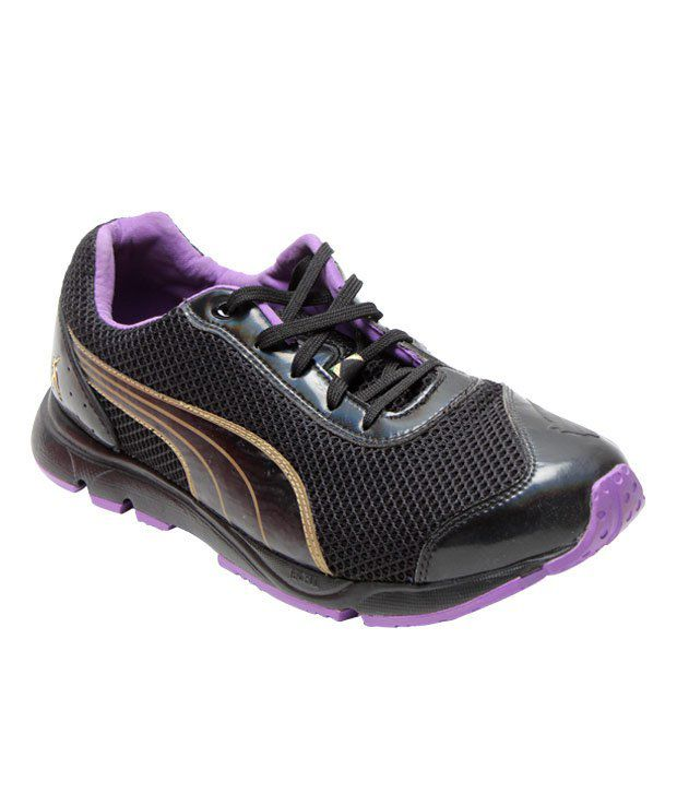 Puma Active Black & Purple Sports Shoes