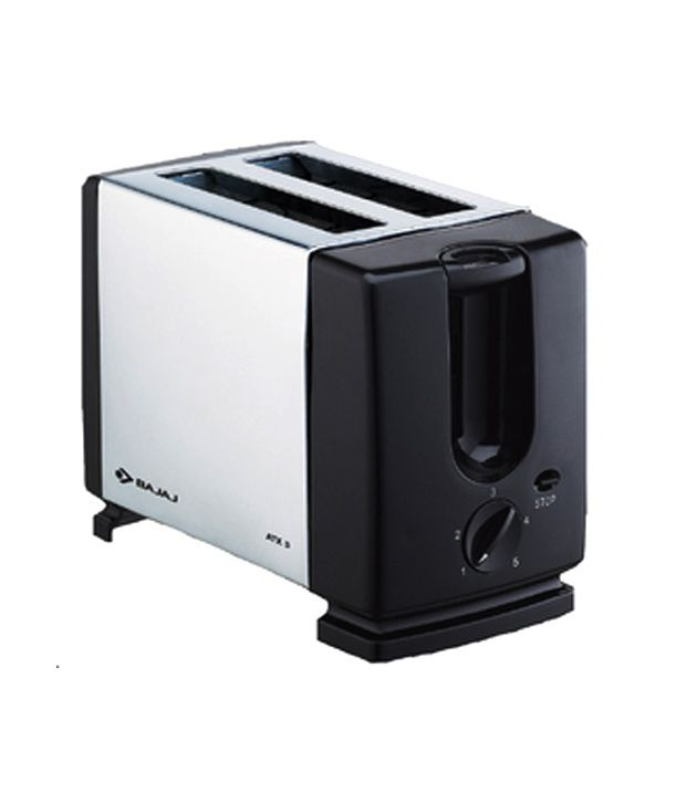 Bajaj BAJAJ ATX 3 750 W Pop Up Toaster(Silver and black)