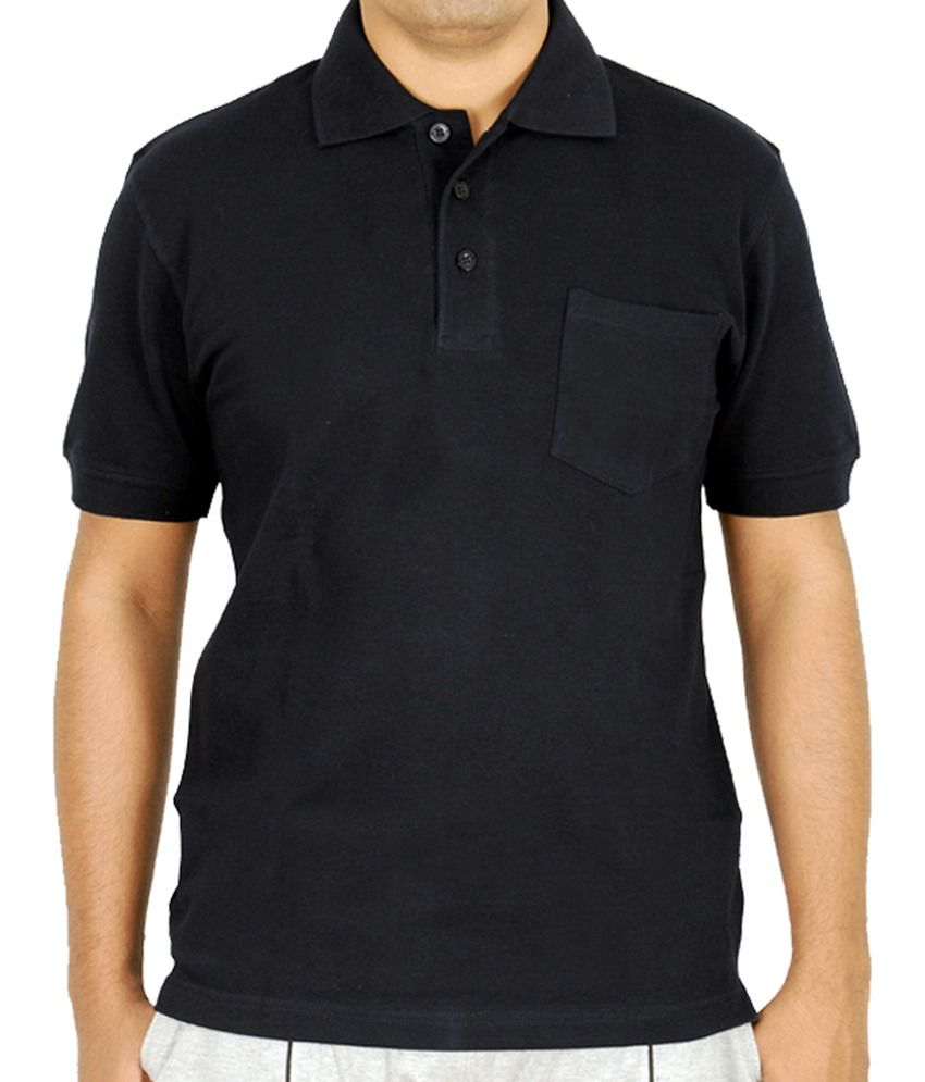 Scorpion Fashions Black Polo T Shirt With Pocket - Buy ...