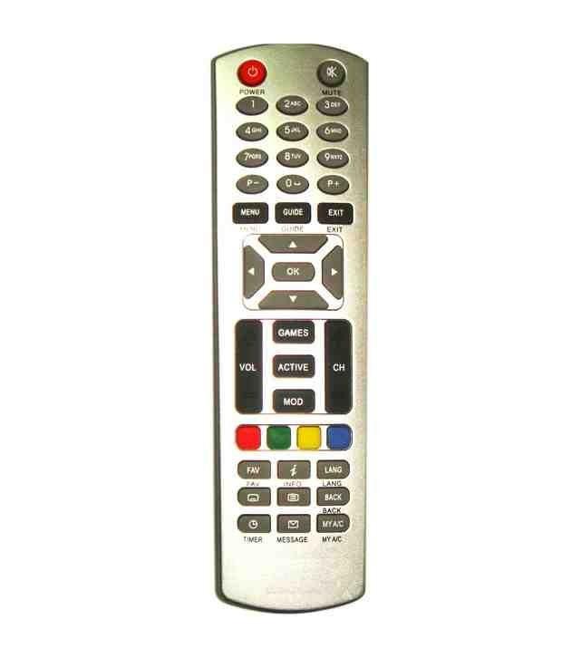 Dish Tv Set Top Box Zenega-4 Remote