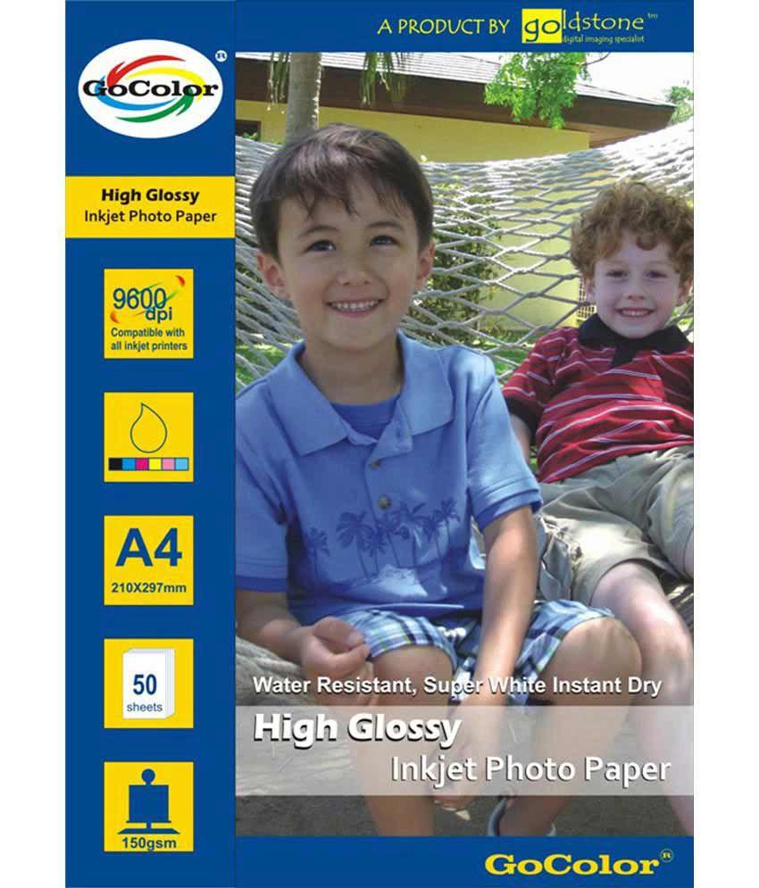 Gocolor High Glossy Inkjet Photo Paper 150 GSM 50 Sheets A4 Size