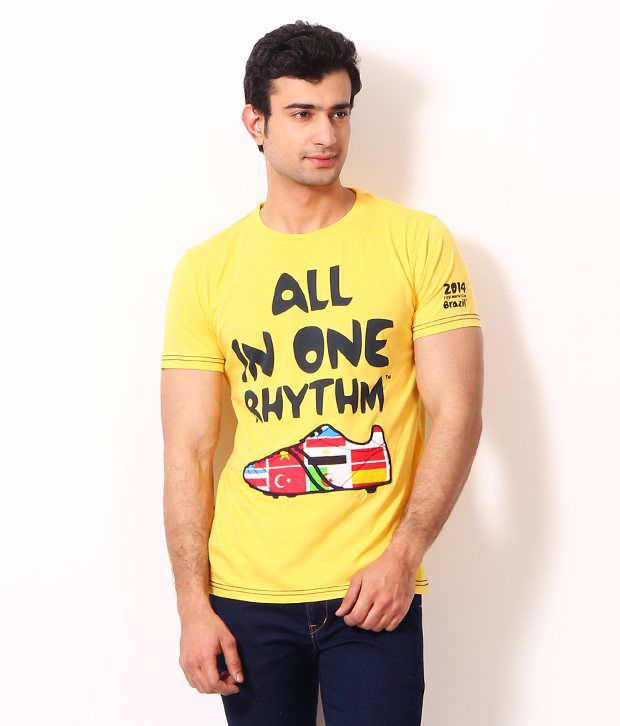 Riot Funky Yellow T Shirt