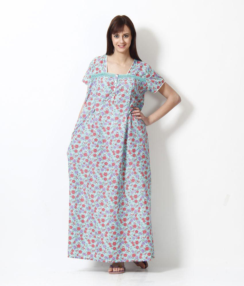 453602b612a Buy Sweet Dreams Green 100% Cotton Feeding Nighty Online at Best Prices in  India - Snapdeal
