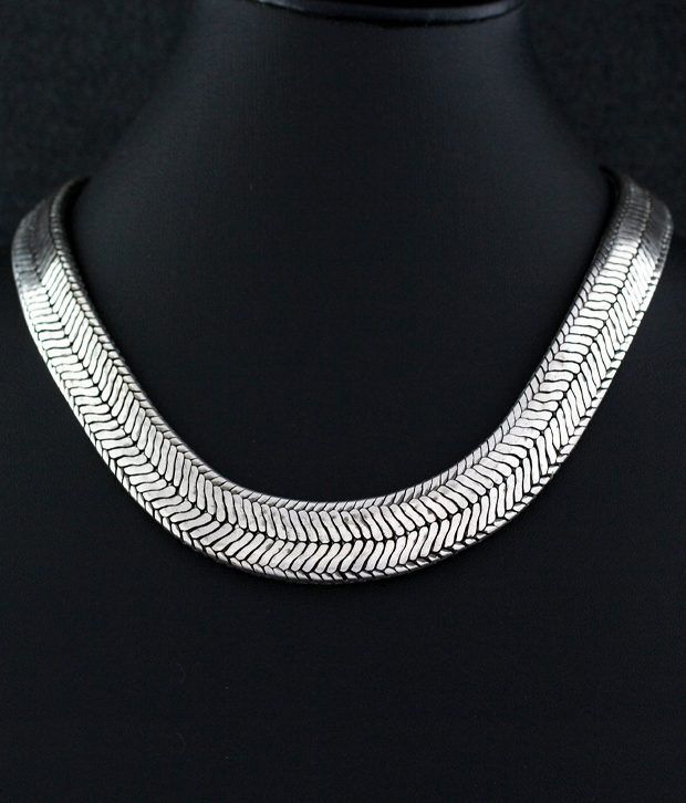 925 Silver Thick Silver Chain Necklace Mens Fashion