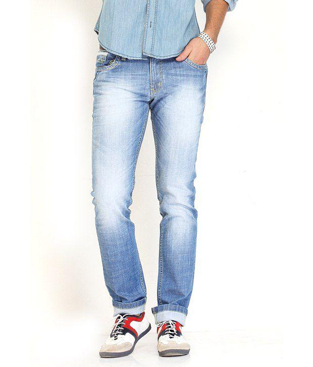 Natt- G Sky Blue Slim Fit Jeans