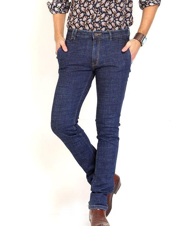 Natt-G Slim Fit Lycra Navy Jeans