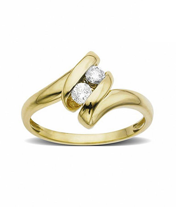 AG Alluring Diamond Ribbon Ring