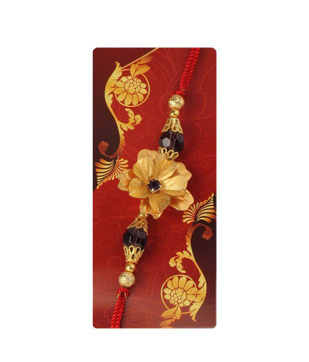 Aarya24kt Attractive Gold Foil Rakhi