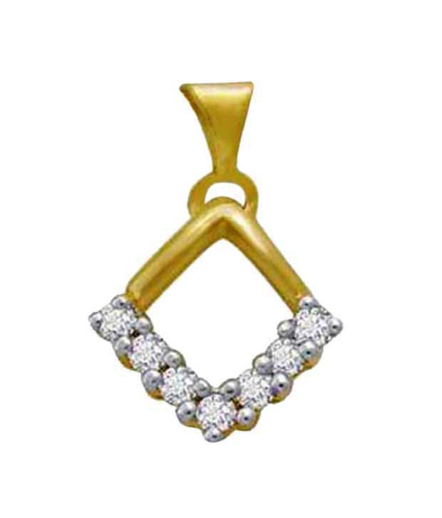 Avsar Charming Gold & Diamond Pendant