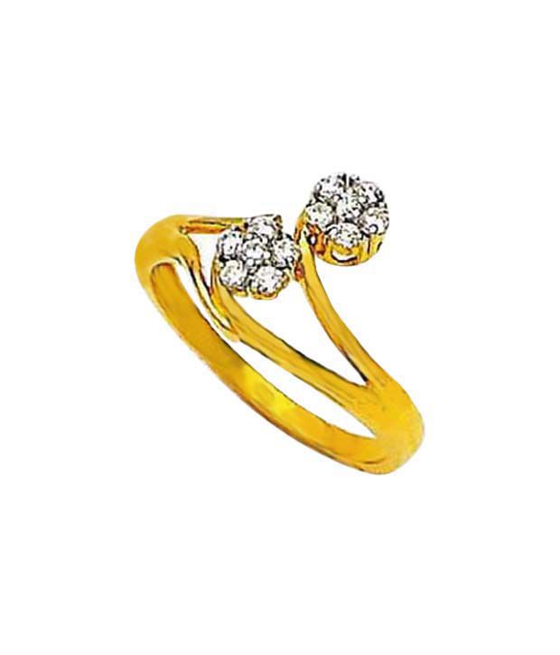 Avsar Pretty Gold & Diamond Ring