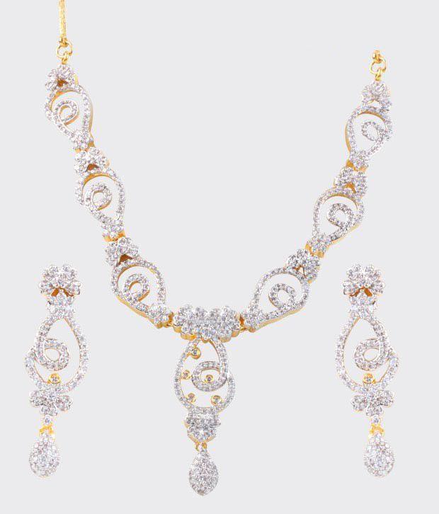 Bani-Thani Gurlz Appealing Gold Plated Necklace Set