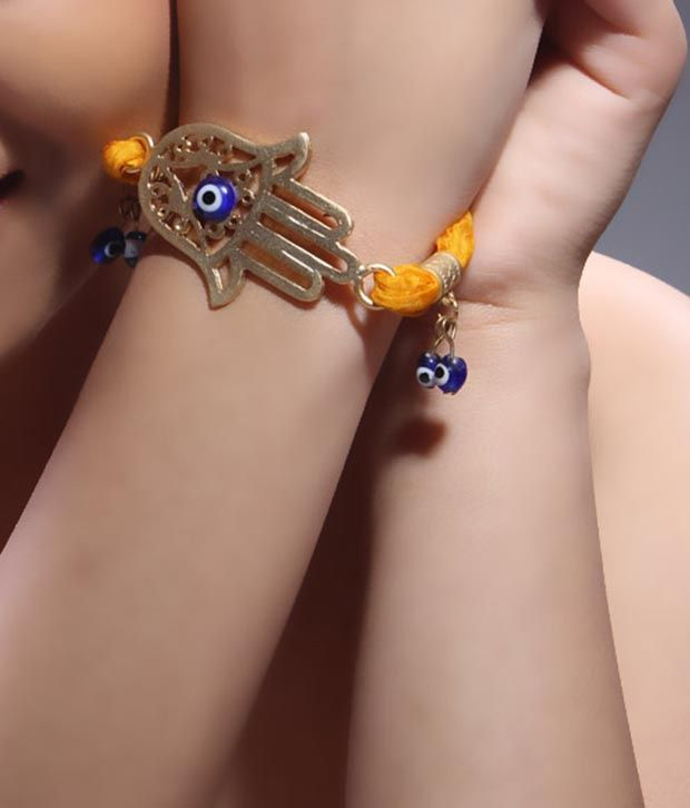 Bansri Trendy Evil Eye Yellow Bracelet