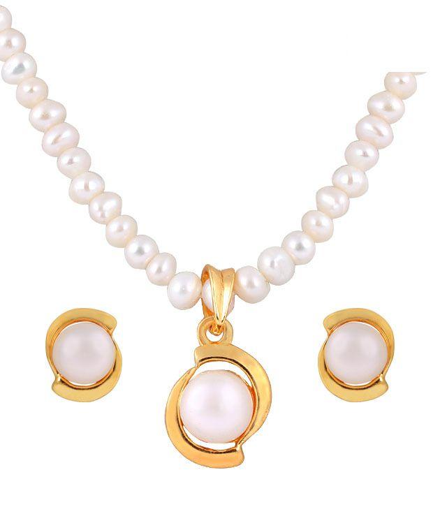 Deccan Elegant Fresh Water Pearl Necklace Set