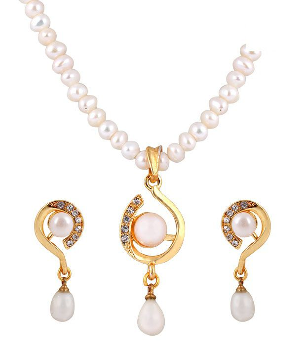 Deccan Splendid Fresh Water Pearl Necklace Set