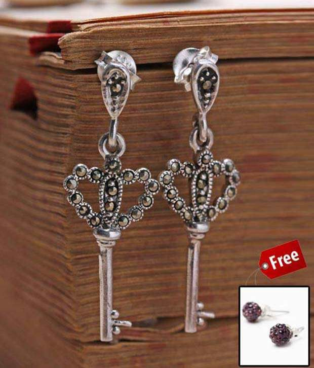 Erato Antique Key Hanging Earrings