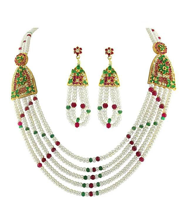 Sri Jagdamba Pearls Mysore Bridal Necklace
