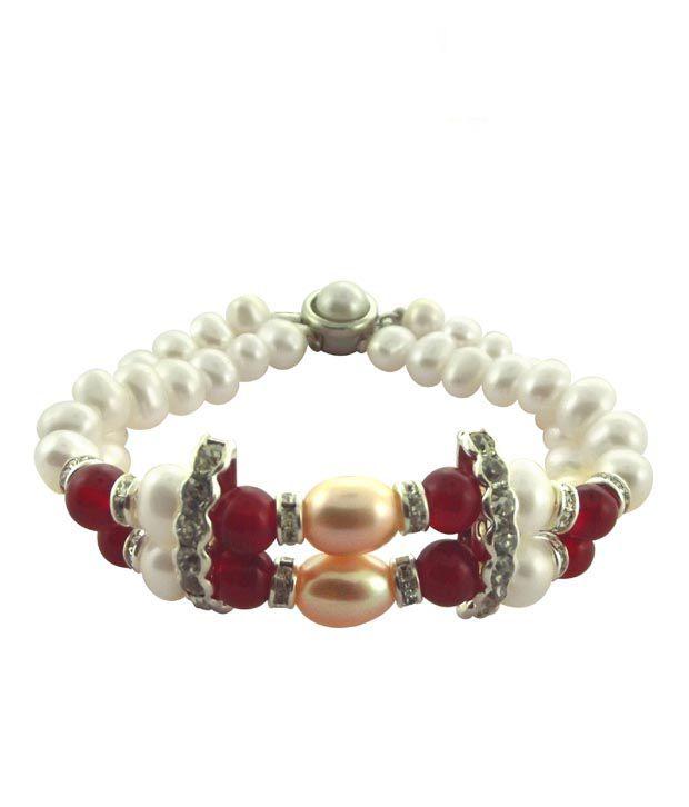 Sri Jagdamba Pearls Traditional Pearl Bracelet
