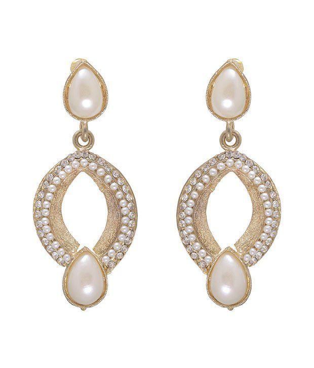 Kriaa Adorable Off White Earrings