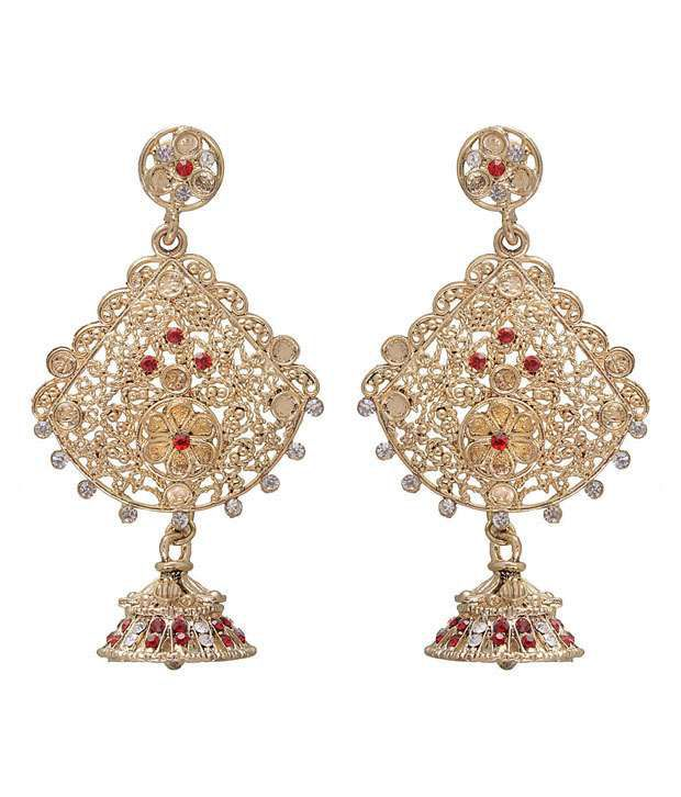 Kriaa Ravishing Red Earrings