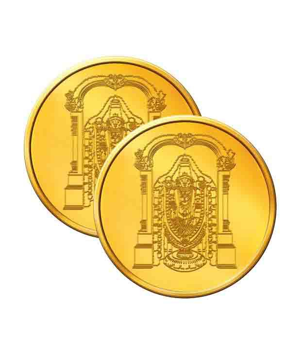 MNC 10 Gm 24kt hallmarked Lord Venkateshwara Gold Coin With 995 Fineness