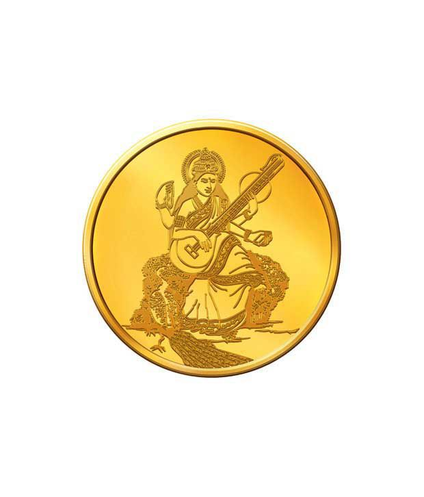 MNC 20 Gm 22kt Goddess Saraswati Gold Coin With 916 Fineness