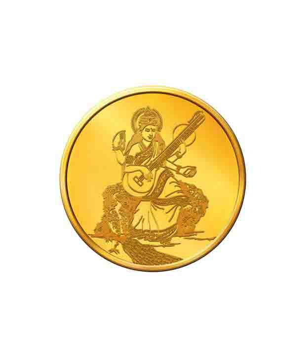 MNC 5 Gm 22kt Goddess Saraswati Gold Coin With 916 Fineness