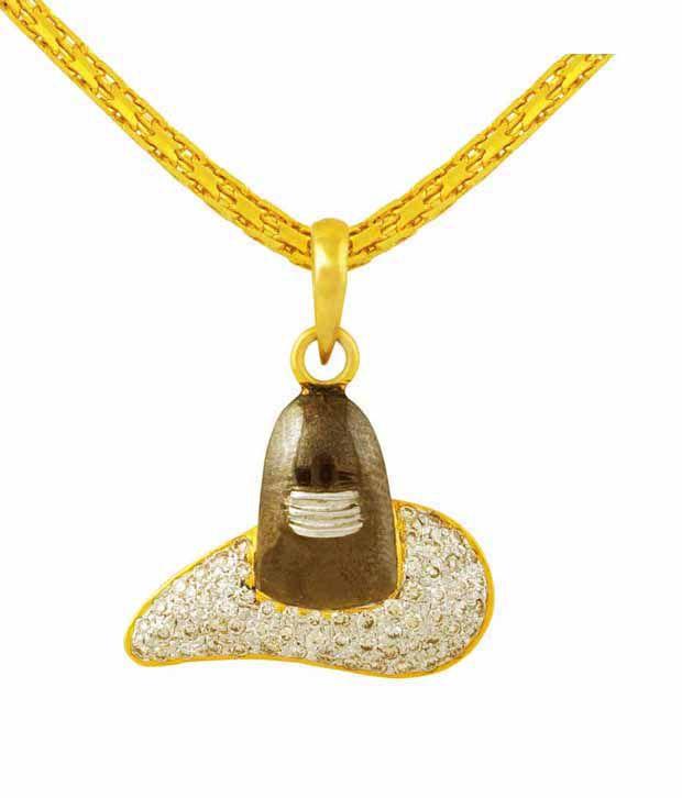 Mehrasons Diamond Shivling Pendant