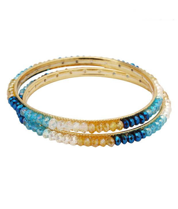 Nisa Pearls Exuberant Multi-coloured Crystal Bangle