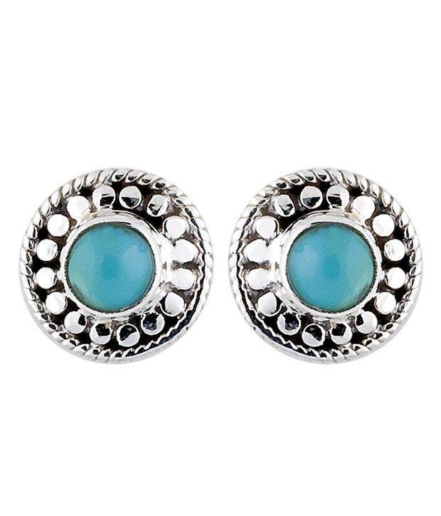 Opaleena Sterling Silver Turquoise Earrings