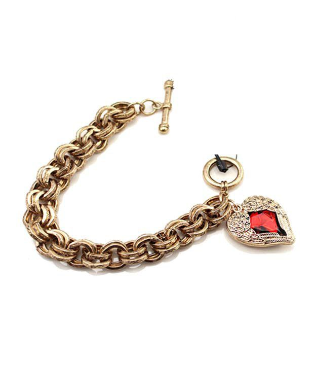 Pari Red Heart Studded Fabulous Bracelet