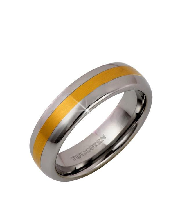 Peora Blingful Dual Tone Tungsten  Ring