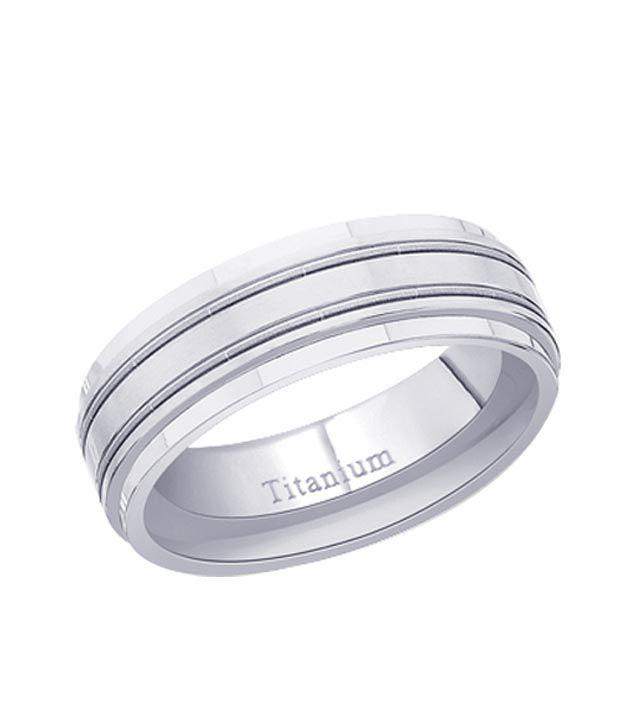 Peora Smart Silver Titanium Ring