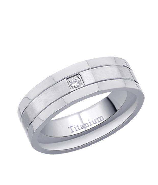 Peora Titanium Cubic Zircon Ring