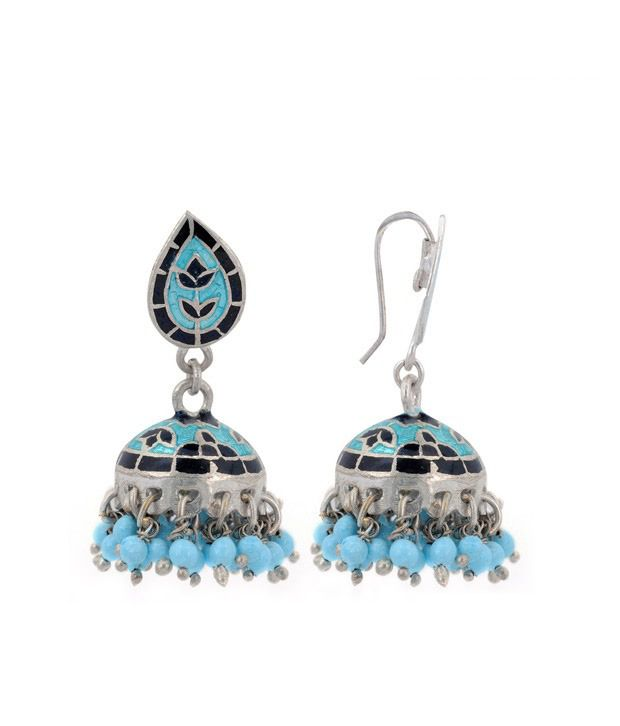 Revlis Amazing Meenakari Jhumki Earrings