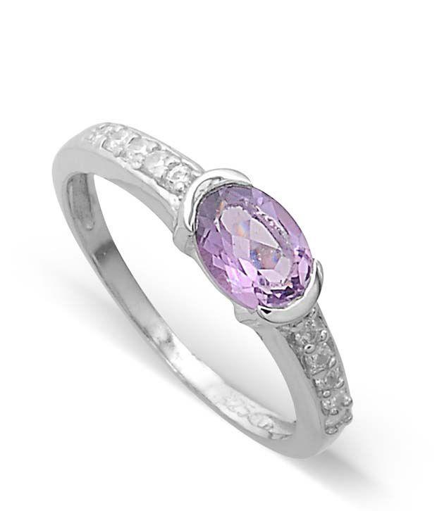 Revlis Claudia Amethyst Silver Ring