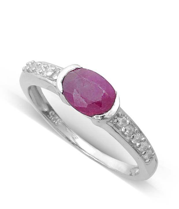 Revlis Claudia Ruby Silver Ring