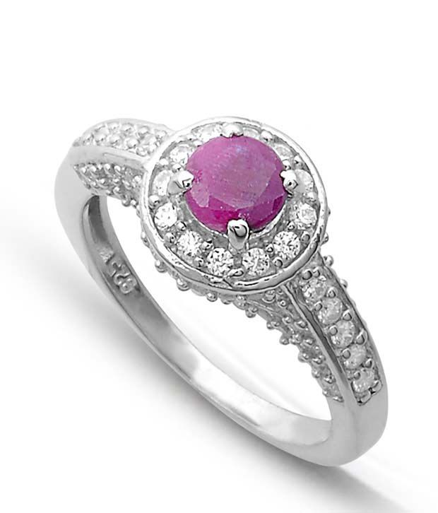 Revlis Fiona Ruby Silver Ring