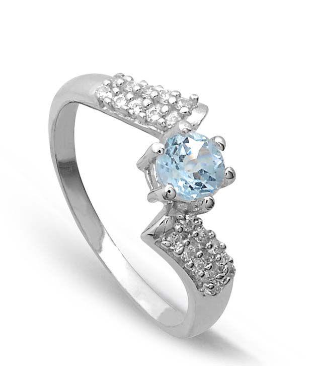 Revlis Grandeur Blue Topaz Silver Ring