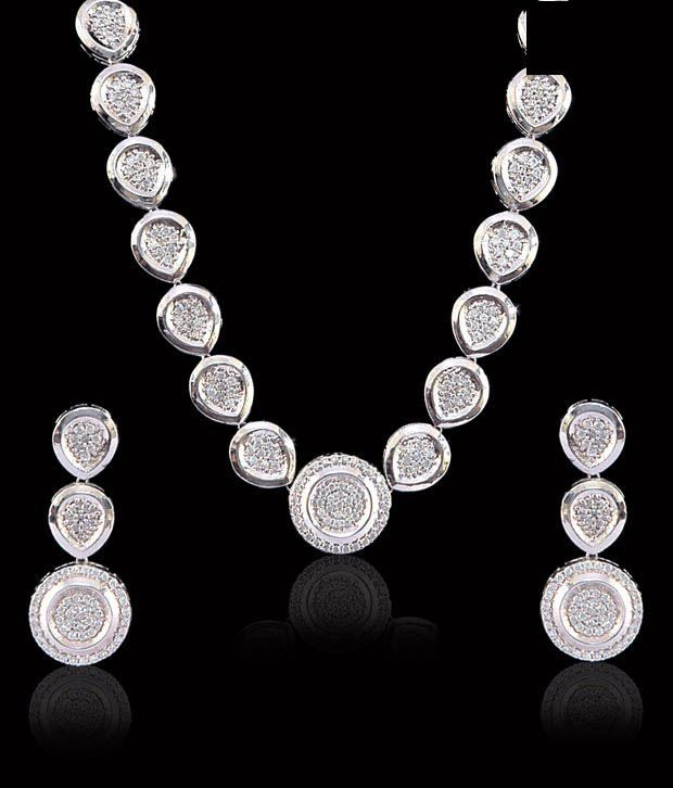 Sukkhi Fascinating CZ Necklace Set