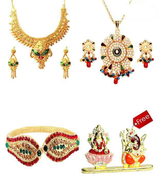 Vendee Fashions Attractive Jewellery Combo With Free Idol