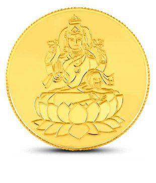 10 gm 24kt purity 995 Fineness Lakshmi Gold Coin By CaratLane