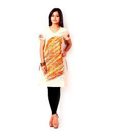 Inara Robes Peach Hand Made Printed Kurta