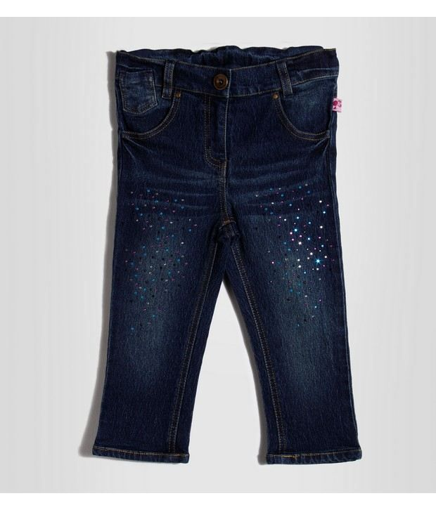 Barbie A Blue Color Denim Capri For Kids