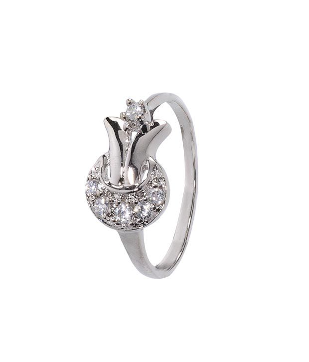 Erato Striking Sterling Silver CZ Ring