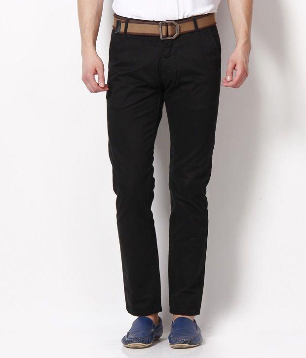 Jack & Jones Black Trousers