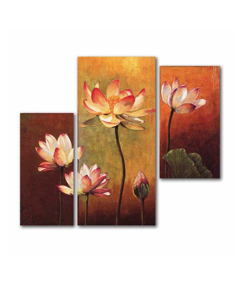 Painting Mantra Lotus 3Piece Set