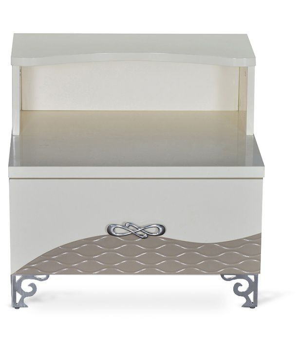 Bentley Night Stand W 2 Drawer Ivory